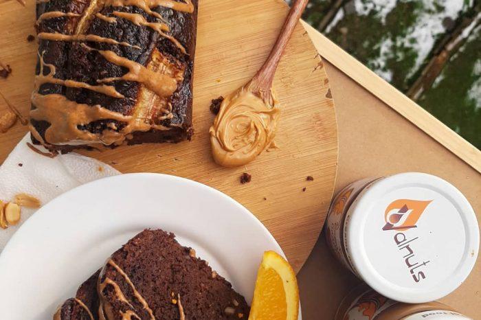 бананов хляб с фъстъчено масло и шоколад