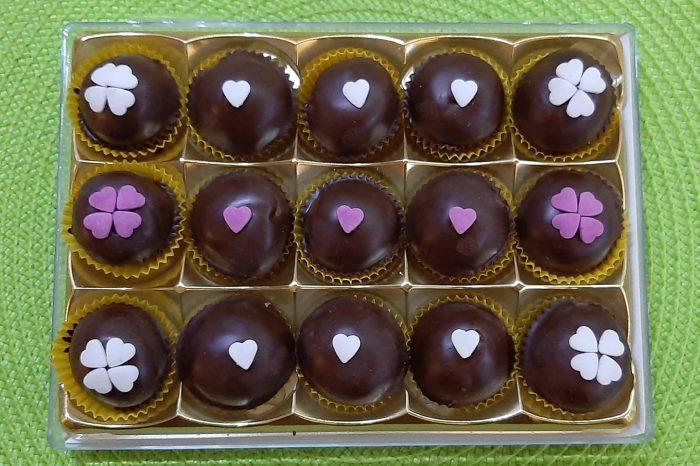 домашни бонбони, шоколадови, тахан, бонбоно с тахан, сникърс